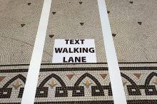 text walking lanes